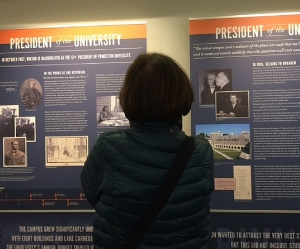 Panel exhibit by Princeton colleagues about Woodrow Wilson